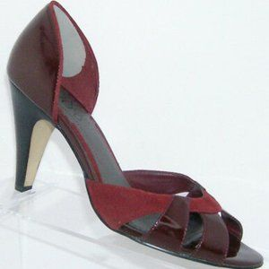 Franco Sarto Maroon Suede/Patent Leather Heels 8M